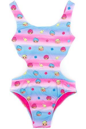 AMIR SLAMA Meisjes Badpakken - Printed + CHOCOLIX cut-out swimsuit