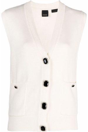 Pinko Embellished button sleeveless cardigan
