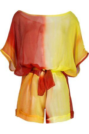 AMIR SLAMA Dames Playsuits - Printed silk playsuit