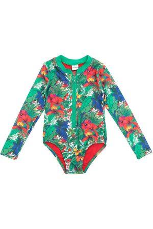 AMIR SLAMA Meisjes Badpakken - Printed long sleeves swimsuit