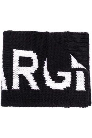 MM6 KIDS Two-tone logo-knit scarf