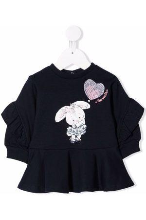 MONNALISA Bunny-print sweatshirt dress