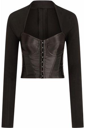 Dolce & Gabbana Bodice-effect long-sleeved top