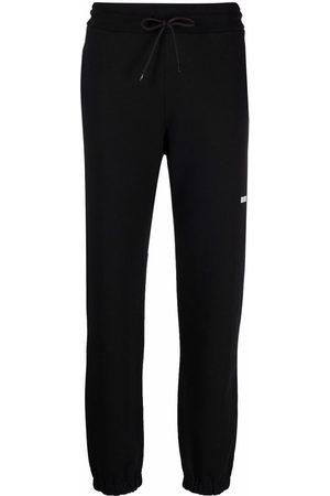 Msgm Dames Joggingbroeken - Logo detail jersey sweatpants