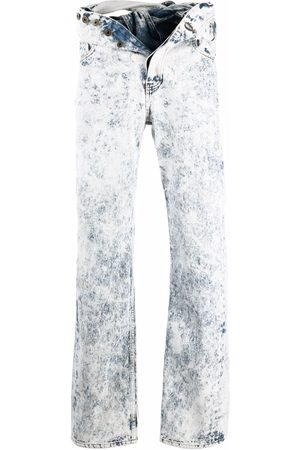 Y / PROJECT Knotted-waist straight-leg jeans