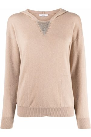 PESERICO SIGN Hooded rib-trimmed jumper