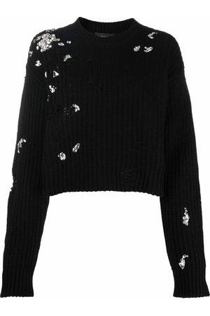 Dsquared2 Crystal-embellished cropped jumper