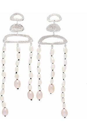 Lee Theana draped pearl earrings