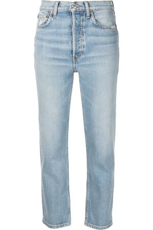 RE/DONE Dames Stretchbroeken - Comfort Stretch cropped jeans
