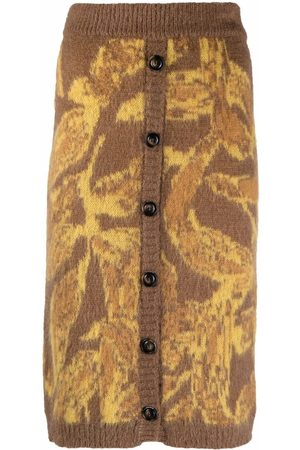 Pinko Dames Geprinte rokken - Abstract-pattern knitted skirt