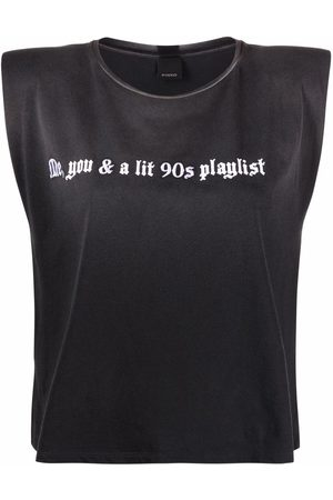 Pinko Slogan-print tank top
