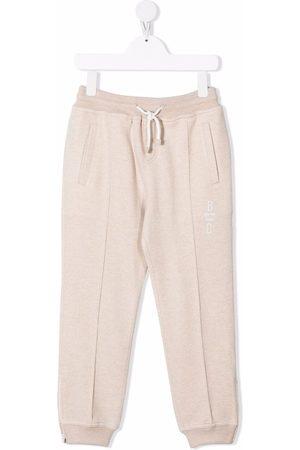Brunello Cucinelli Logo-print cashmere track pants