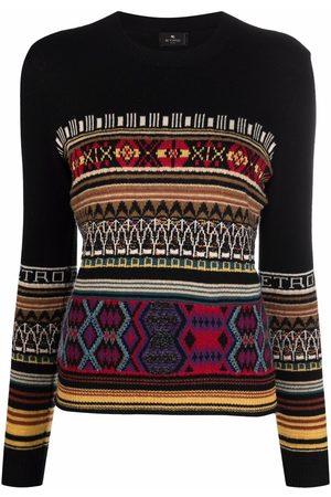 Etro Patterned intarsia-knit jumper