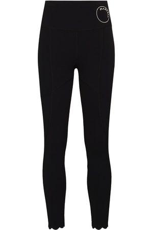 Marysia Dames Leggings - Naomi scallop-hem leggings