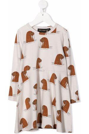 Mini Rodini Walrus-print longsleeved dress