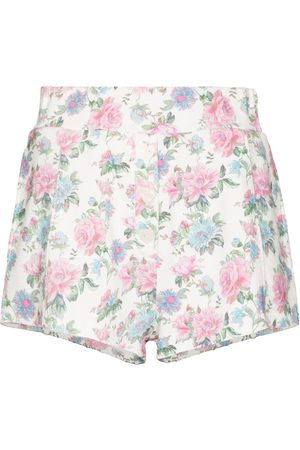 LOVESHACKFANCY Dames Shorts - Renato floral print shorts