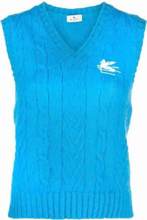 Etro Cable-knit vest top