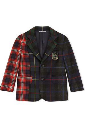 Dolce & Gabbana Patchwork tartan blazer