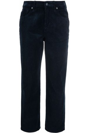 7 for all Mankind Dames Broeken - The Modern cropped corduroy trousers