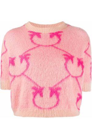 Pinko Intarsia-knit T-shirt