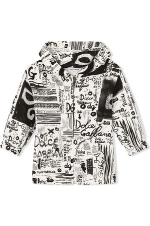 Dolce & Gabbana Hooded graffiti-print jacket