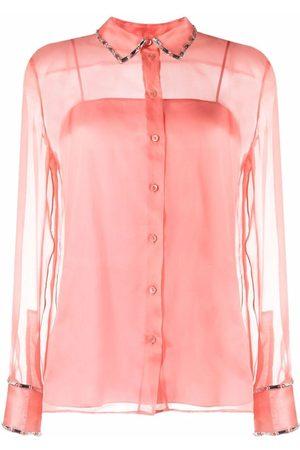 Emilio Pucci Dames T-shirts - Crystal-embellished shirt