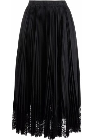 ERMANNO SCERVINO Floral-lace pleated skirt