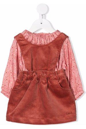 Chloé Paisley-print ruffled dress