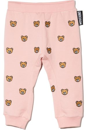 Moschino Teddy Bear-embroidered track pants