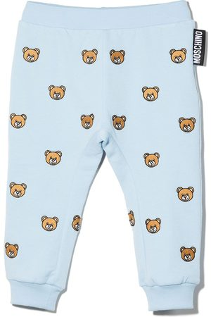 Moschino Embroidered toy bear trousers