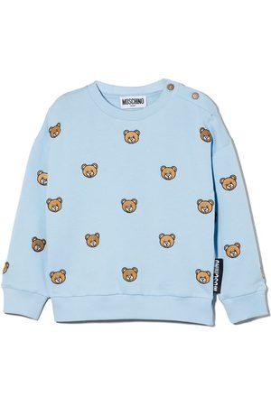 Moschino Teddy Bear intarsia-knit jumper