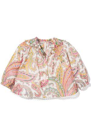 ZIMMERMANN Paisley-print long-sleeve blouse