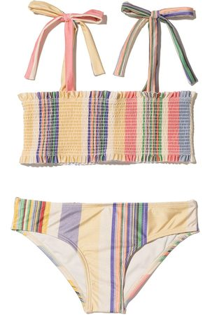 ZIMMERMANN Smocked striped bikini