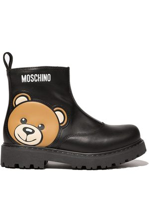 Moschino Teddy Logo ankle boots