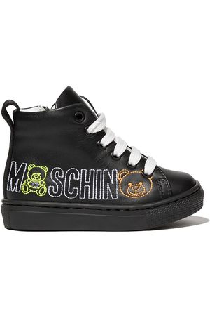 Moschino Toy bear stitching hi-top sneakers