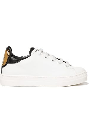Moschino Teddy logo leather sneakers