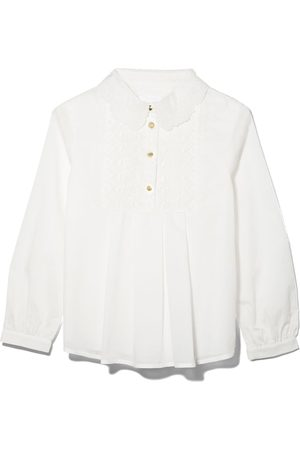 Chloé Embroidered lace panel blouse