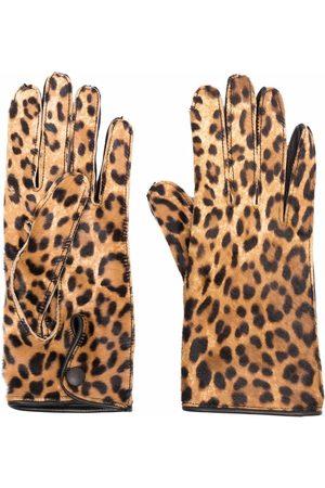 Maison Margiela Dames Handschoenen - Leopard-print gloves