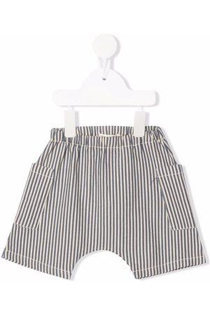 Babe And Tess Shorts - Striped cotton shorts