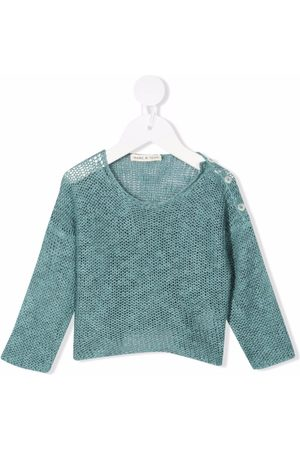 Babe And Tess Truien - Round-neck pointelle-knit jumper