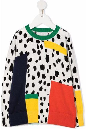 Stella McCartney Meisjes Sweaters - Dalmatian Spots-print organic cotton-blend sweatshirt