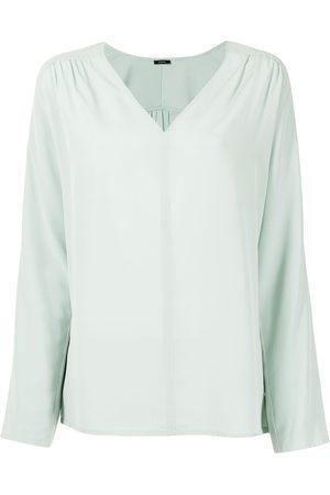 Joseph V-neck silk blouse