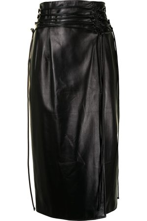 16Arlington Dames Midi rokken - Lucerne leather midi skirt
