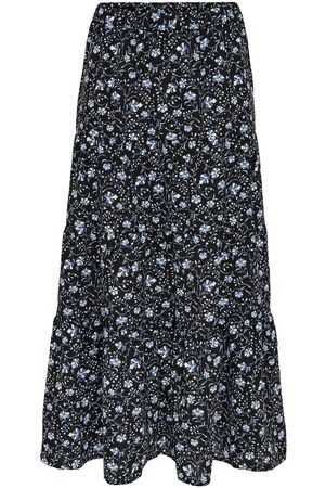 ONLY Printed Maxi Skirt Dames Black; Blue
