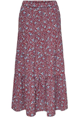ONLY Printed Maxi Skirt Dames Blue; Red