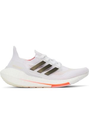 adidas White & Red Ultraboost 21 Sneakers