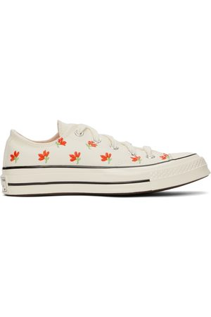 Converse Off-White Floral Chuck 70 Low Sneakers