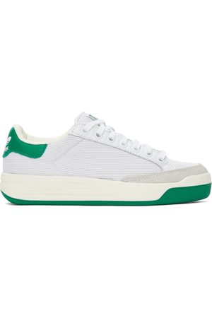 adidas Dames Sneakers - White & Green Mesh Rod Laver Sneakers