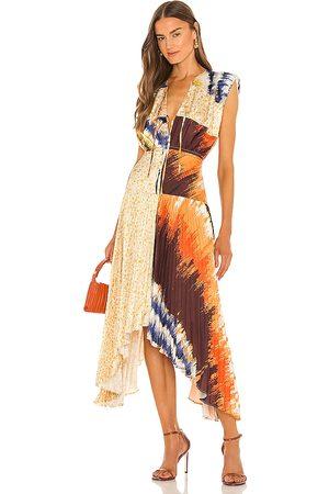 AMUR Milan Pleated Midi Dress in