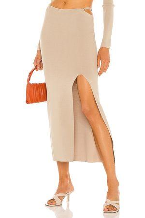 AYA MUSE Dames Midi rokken - Diamond Knit Skirt in